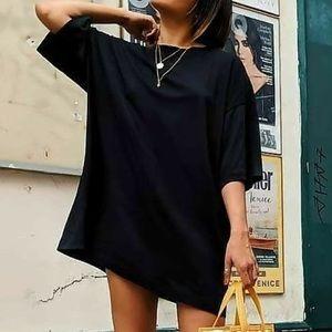 Zara T-shirt dress! Size Medium color is black!